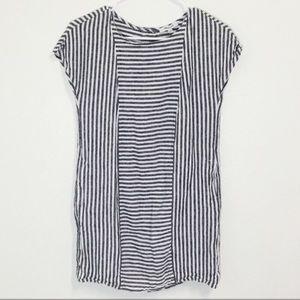 Madewell Gray & White Stripe Linen Dress!